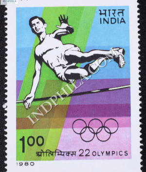 22 OLYMPICS HIGH JUMP COMMEMORATIVE STAMP