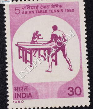 5 ASIAN TABLE TENNIS 1980 COMMEMORATIVE STAMP