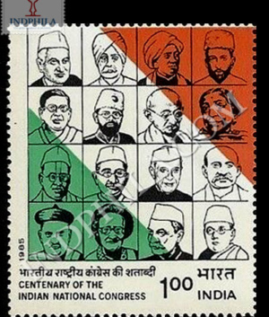 CENTENARY OF THE INDIAN NATIONAL CONGRESS S3 COMMEMORATIVE STAMP