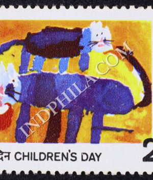 CHILDRENS DAY CATS COMMEMORATIVE STAMP