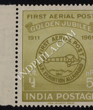 FIRST AERIAL POST GOLDEN JUBILEE 1911 1961 S1 COMMEMORATIVE STAMP