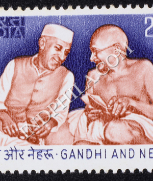 GANDHI AND NEHRU COMMEMORATIVE STAMP