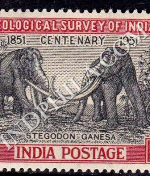 GEOLOGICAL SURVEY OF INDIA CENTENARY 1851 1951 COMMEMORATIVE STAMP