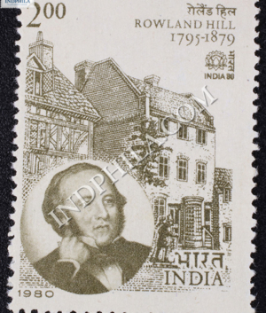 INDIA 80 ROWLAND HILL 1795 1879 COMMEMORATIVE STAMP