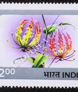 INDIAN FLOWERS GLORIOSA LILY COMMEMORATIVE STAMP