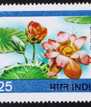 INDIAN FLOWERS LOTUS COMMEMORATIVE STAMP