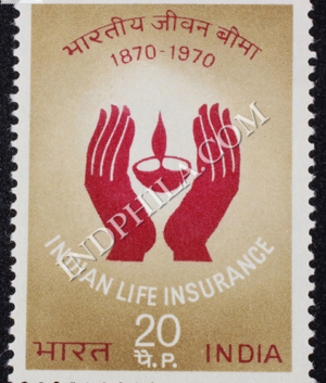 INDIAN LIFE INSURANCE 1870 1970 COMMEMORATIVE STAMP