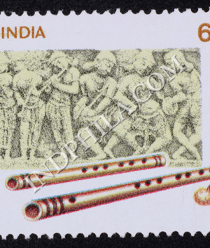 INDIAN MUSICAL INSTRUMENTS FLUTE COMMEMORATIVE STAMP