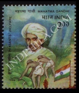 MAHATMA GANDHI 50TH DEATH ANNIVERSARY PEASANTS WELFARE COMMEMORATIVE STAMP
