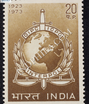 OIPC ICPO INTERPOL 1923 1973 COMMEMORATIVE STAMP