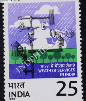 WEATHER SERVICES IN INDIA COMMEMORATIVE STAMP