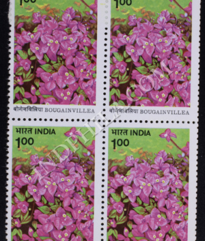 BOUGAINVILLEA HB SINGH BLOCK OF 4 INDIA COMMEMORATIVE STAMP
