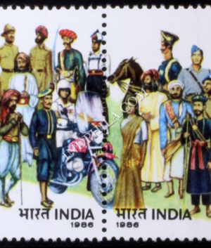 INDIA 1986 INDIAN POLICE MNH SETENANT PAIR