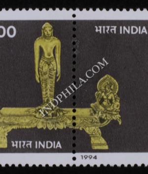 INDIA 1994 BARODA MUSEUM MNH SETENANT PAIR