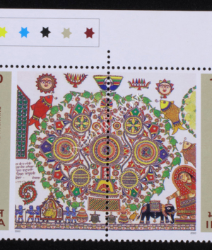 INDIA 2000 MADHUBANI & MITHILA PAINTINGS MNH SETENANT PAIR