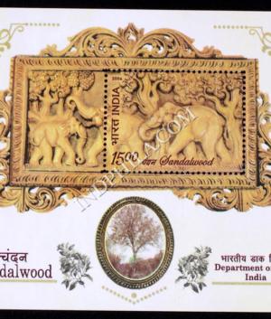 INDIA 2006 SANDALWOOD MNH MINIATURE SHEET