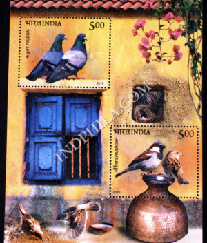 INDIA 2010 BIRDS OF INDIA MNH MINIATURE SHEET