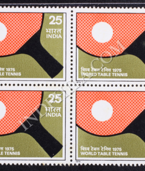 WORLD TABLE TENNIS BLOCK OF 4 INDIA COMMEMORATIVE STAMP