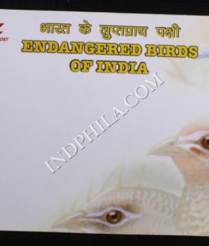 INDIA 2006 ENDANGERED BIRDS MAXIM CARDS COVER