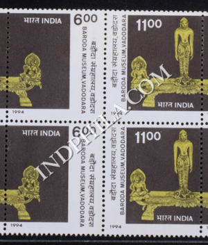 INDIA 1994 BARODA MUSEUM MNH SETENANT BLOCK OF 4 STAMP