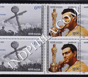 INDIA 1994 SATYAJIT RAY MNH SETENANT BLOCK OF 4 STAMP